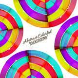 Abstract colorful rainbow curve background design. Stock Image