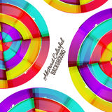 Abstract colorful rainbow curve background design. Stock Photo