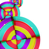 Abstract colorful rainbow curve background design. Royalty Free Stock Image