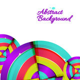 Abstract colorful rainbow curve background design. Royalty Free Stock Photography