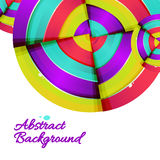 Abstract colorful rainbow curve background design. Royalty Free Stock Photo