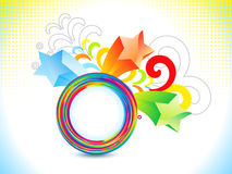 Abstract colorful rainbow explode Royalty Free Stock Photos
