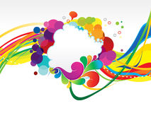 Abstract colorful rainbow explode background Stock Photo