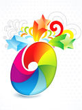 Abstract colorful rainbow floral. Vector illustration royalty free illustration