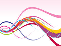 Abstract colorful rainbow line wave. Vector illustration Royalty Free Stock Photos