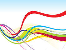 Abstract colorful rainbow line wave. Vector illustration Stock Photos