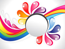 Abstract colorful rainbow liquid border Royalty Free Stock Photo