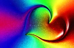 Abstract colorful Rainbow Love Heart Background.vector illustration.