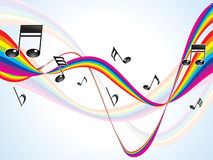 Abstract colorful rainbow musical waves Royalty Free Stock Photography