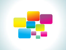 Abstract colorful rainbow rectangles. Vector illustration Stock Photography