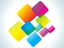 Abstract colorful rainbow rectangles Stock Images