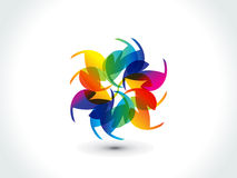 Abstract colorful rainbow shape Stock Image