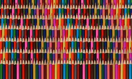 Abstract colorful rainbow sharpen pencils background pattern. Rainbow pattern backdrop. High resolution many colors various vertic Royalty Free Stock Photos