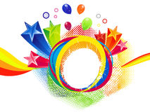 Abstract colorful rainbow splash background Stock Images