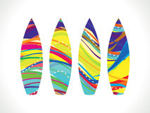 Abstract colorful rainbow surf board Stock Photos