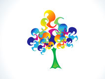 Abstract colorful rainbow tree. Vector illustration Stock Images