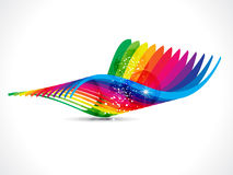 Abstract colorful rainbow wave background Royalty Free Stock Photography