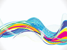 Abstract colorful  rainbow wave background Stock Photography