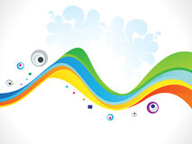 Abstract colorful rainbow wave background. Vector illustration Stock Images