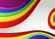 Abstract colorful rainbow wave banner Royalty Free Stock Image