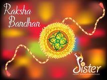 Abstract colorful raksha bandhan background Royalty Free Stock Image