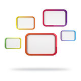 Abstract Colorful Rectangles. 3d abstract design with colorful rectangles on white background Stock Photography