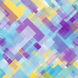 Abstract colorful rectangles background of violet, blue, and yellow shades Stock Photo