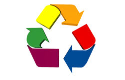 Abstract colorful recycle symbol. Isolated over white Royalty Free Illustration