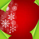 Abstract colorful red christmas background. Illustration Stock Photos