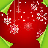 Abstract colorful red christmas background. Illustration royalty free illustration