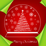 Abstract colorful red christmas background. Illustration Royalty Free Stock Photo