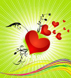 Abstract colorful red heart Royalty Free Stock Photos