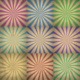 Abstract Colorful Retro Background Vector Illustration. With grunge effect Royalty Free Stock Photo