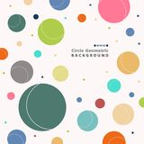 Abstract of colorful retro circle pattern background. Abstract of colorful retro circle pattern background, illustration vector eps10 royalty free illustration