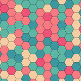 Abstract colorful Retro geometric hexagon. Pattern background Stock Illustration