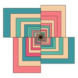 Abstract Colorful Retro Geometric Hexagon Stock Image