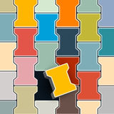 Abstract Colorful Retro Lock Pavement Stock Image