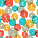 Abstract colorful retro seamless pattern (balls do Royalty Free Stock Photo