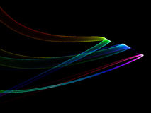 Abstract colorful ribbons Stock Photo