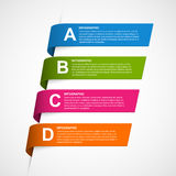 Abstract Colorful Ribbons Infographic. Design element. Stock Photography