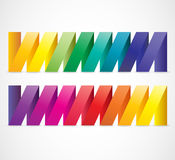 Abstract colorful ribbons. Stock Photography