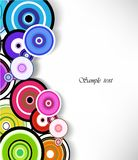 Abstract colorful ring background. Vector Royalty Free Stock Photo