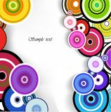 Abstract colorful ring background. Vector Royalty Free Stock Image