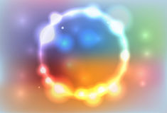 Abstract Colorful Ring of Lights Illustration Royalty Free Stock Photo