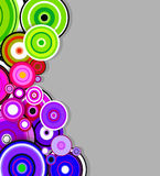 Abstract colorful rings background. Vector Stock Images