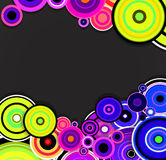 Abstract colorful rings background. Vector Stock Photography