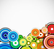 Abstract colorful rings background. Vector Royalty Free Stock Image