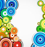 Abstract colorful rings background. Vector Royalty Free Stock Photo