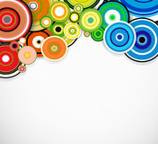 Abstract colorful rings background. Vector Stock Photo