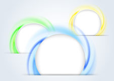 Abstract colorful rings forming a 3d background Royalty Free Stock Photo